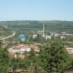 View to the town of Roman and Iskar River