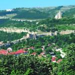 "The town of Veliko Tarnovo - ""Tzarevetz"" hill"