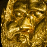 The gold mask from the valley of the tracian kings from the Svetitza mound