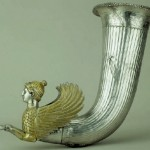 The treasure from Borovo - The rhyton with a protome of a sphinx, part of the king Kotyu I's set