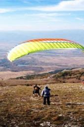 Paragliding over Kyustendil